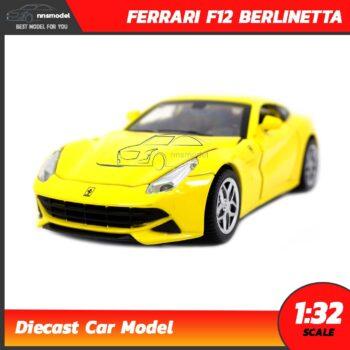 โมเดลรถ เฟอร์รารี่ FERRARI F12 BERLINETTA สีเหลือง (Scale 1:32)