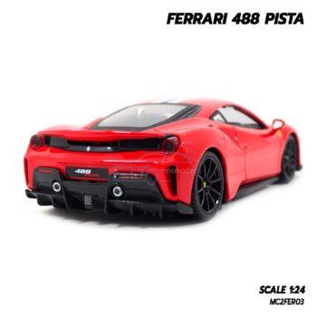 โมเดลรถ FERRARI 488 PISTA (1:24) โมเดลประกอบสำเร็จ