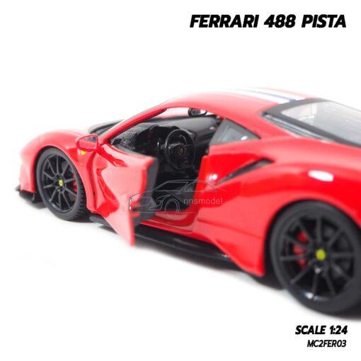 โมเดลรถ FERRARI 488 PISTA (1:24) ภายในรถจำลองเหมือนจริง