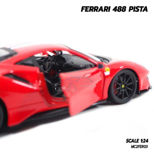 โมเดลรถ FERRARI 488 PISTA (1:24) ภายในรถจำลองเหมือนจริง พร้อมตั้งโชว์