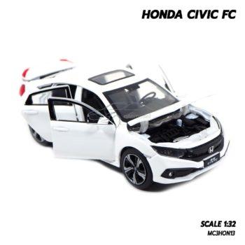 โมเดลรถ HONDA CIVIC FC สีขาว (1:32) รถโมเดลเหมือนจริง เปิดได้ครบ