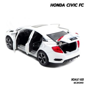 โมเดลรถ HONDA CIVIC FC สีขาว (1:32) รถโมเดลเหมือนจริง เปิดฝากระโปรงท้ายได้
