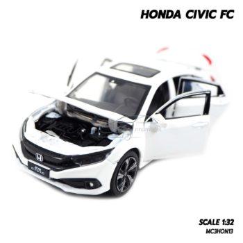 โมเดลรถ HONDA CIVIC FC สีขาว (1:32) รถโมเดลเหมือนจริง เปิดฝากระโปรงหน้าได้