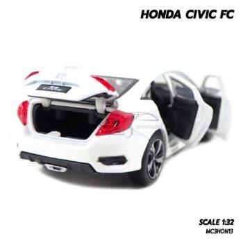 โมเดลรถ HONDA CIVIC FC สีขาว (1:32) รถโมเดลเหมือนจริง มีเสียงมีไฟ