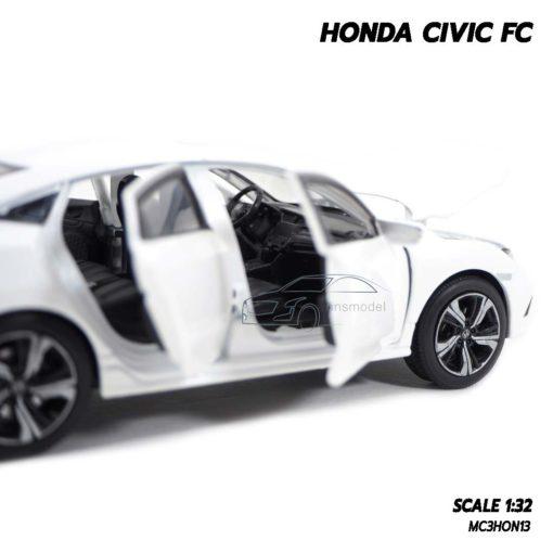 โมเดลรถ HONDA CIVIC FC สีขาว (1:32) ภายในรถเหมือนจริง