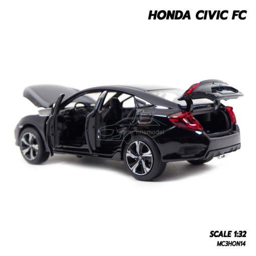 โมเดลรถ HONDA CIVIC FC สีดำ (1:32) โมเดลรถเปิดได้ครบ