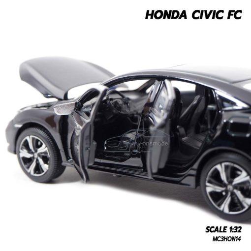 โมเดลรถ HONDA CIVIC FC สีดำ (1:32) ภายในรถจำลองเหมือนจริง