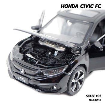 โมเดลรถ HONDA CIVIC FC สีดำ (1:32) เครื่องยนต์จำลองเหมือนจริง