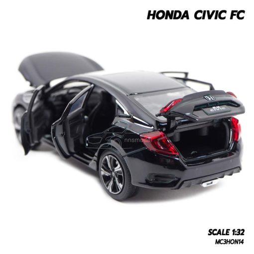 โมเดลรถ HONDA CIVIC FC สีดำ (1:32) เปิดฝากระโปรงท้ายรถได้