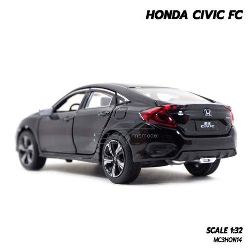 โมเดลรถ HONDA CIVIC FC สีดำ (1:32) โมเดลรถประกอบสำเร็จ พร้อมตั้งโชว์