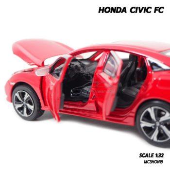 โมเดลรถ HONDA CIVIC FC สีแดง (1:32) ภายในรถจำลองเหมือนจริง