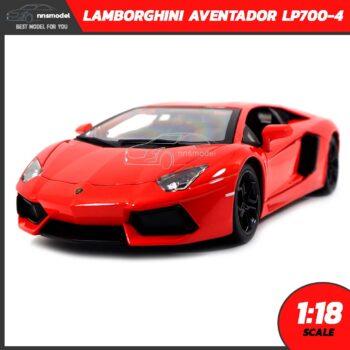 โมเดลรถ LAMBORGHINI AVENTADOR LP700-4 สีส้ม (Scale 1:18)