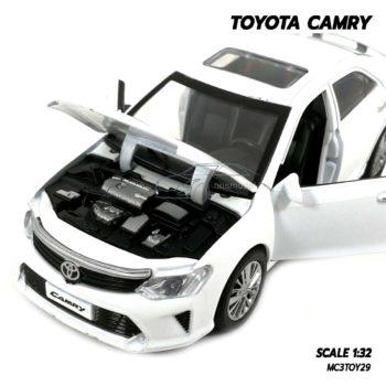 โมเดลรถ TOYOTA CAMRY สีขาว (1:32) โมเดลจำลองเหมือนจริง เปิดฝากระโปรงหน้าได้