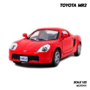 โมเดลรถเหล็ก TOYOTA MR2 สีแดง 1:32 โมเดลรถ โตโยต้า รถเหล็กราคาถูก