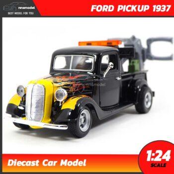 โมเดลรถคลาสสิค รถลาก FORD PICKUP 1937 สีดำ (Scale 1:24)