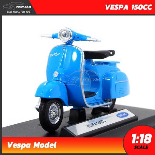 โมเดลรถเวสป้า VESPA 150CC สีฟ้า (Scale 1:18)