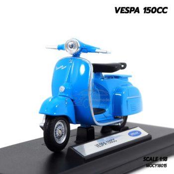 โมเดลรถเวสป้า VESPA 150CC สีฟ้า (1:18)