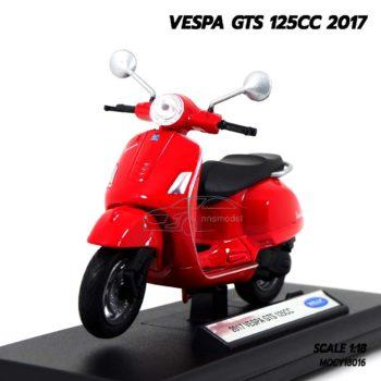 โมเดลรถเวสป้า VESPA GTS 125CC 2017 สีแดง (1:18)