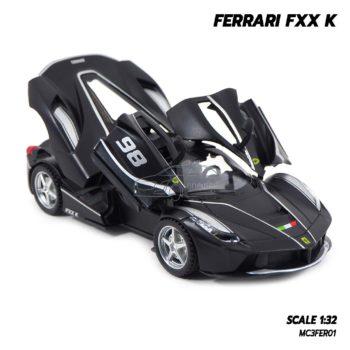โมเดลรถเหล็ก FERRARI FXX K สีดำด้านเทา (Scale 1:32) เปิดประตูได้ครบ