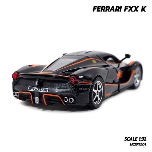โมเดลรถ FERRARI FXX K สีดำส้ม (Scale 1:32) โมเดลประกอบสำเร็จ