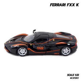 โมเดลรถ FERRARI FXX K สีดำส้ม (Scale 1:32) รถโมเดลเหล็กเหมือนจริง