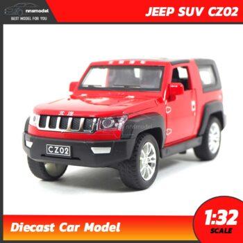 โมเดลรถเหล็ก JEEP SUV CZ02 สีแดง (Scale 1:32)