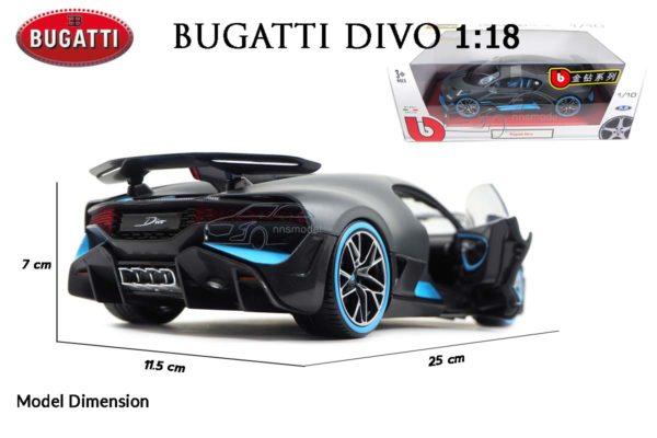 โมเดลรถ BUGATTI DIVO (1:18) โมเดลรถซุปเปอร์คาร์ ผลิตโดยแบรนด์ Burago