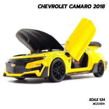 โมเดลรถ CHEVROLET CAMARO 2018 สีเหลืองดำ (1:24) โมเดล คาเมโร สวยๆ เปิดได้ครบ