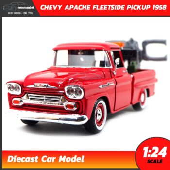 โมเดลรถยก CHEVY APACHE FLEETSIDE PICKUP 1958 (Scale 1:24)