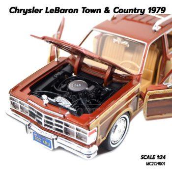 โมเดลรถ CHRYSLER LEBARON TOWN COUNTRY 1979 (1:24) เครื่องยนต์เหมือนจริง