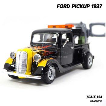 โมเดลรถ FORD PICKUP 1937 สีดำลายไฟ (1:24) โมเดลรถยก น่าสะสม