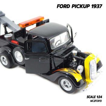 โมเดลรถ FORD PICKUP 1937 สีดำลายไฟ (1:24) โมเดลประกอบสำเร็จ เครื่องยนต์เหมือนจริง