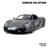 โมเดลรถ Porsche 918 Spyder สีเทาดำ (1:24)