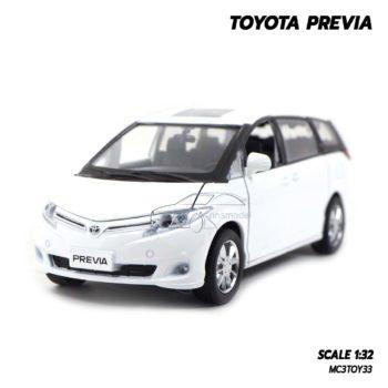 โมเดลรถ โตโยต้า Toyota Previa สีขาว (1:32)โมเดลรถ โตโยต้า Toyota Previa สีขาว (1:32)