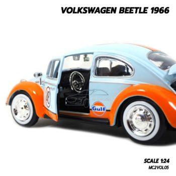 โมเดลรถ VOLKSWAGEN BEETLE 1966 No.48 (1:24) ภายในรถจำลองเหมือนจริง