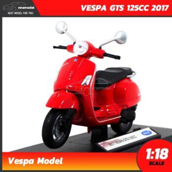 โมเดลเวสป้า VESPA GTS 125CC 2017 สีแดง (Scale 1:18)