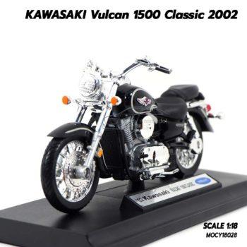 โมเดลมอเตอร์ไซด์ KAWASAKI Vulcan 1500 Classic 2002 (1:18) โมเดลประกอบสำเร็จ