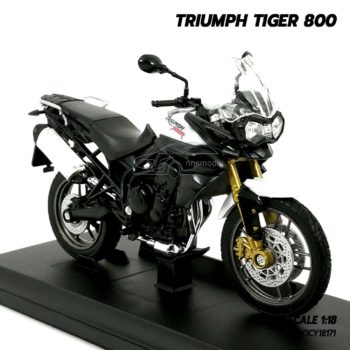 โมเดลมอเตอร์ไซด์ Triumph Tiger 800 (1:18) โมเดลรถของสะสม พร้อมตั้งโชว์