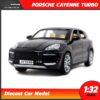 โมเดลรถเหล็ก PORSCHE CAYENNE TURBO (Scale 1:32) สีดำ model รถเหล็ก SUV