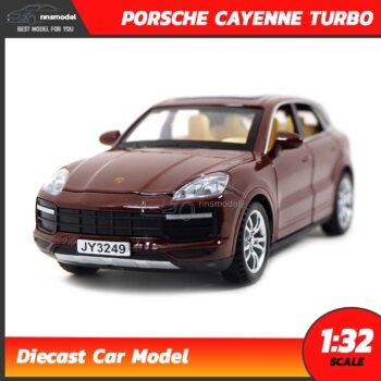 โมเดลรถเหล็ก PORSCHE CAYENNE TURBO (Scale 1:32) สีน้ำตาล model รถเหล็ก SUV