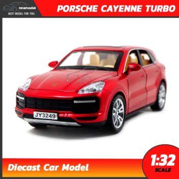 โมเดลรถเหล็ก PORSCHE CAYENNE TURBO (Scale 1:32) สีแดง model รถเหล็ก SUV