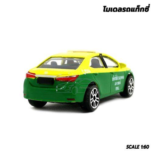 โมเดลรถ แท็กซี่ สีเขียวเหลือง Toyota Corolla Altis แบรนด์ Majorette