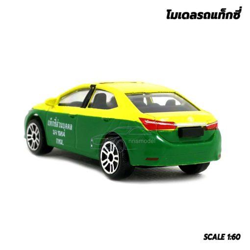 โมเดลรถ แท็กซี่ สีเขียวเหลือง Toyota Corolla Altis โมเดลแท็กซี่ เหมือนจริง