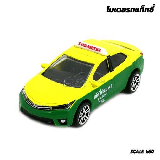 โมเดลรถ แท็กซี่ สีเขียวเหลือง Toyota Corolla Altis รถโมเดลแท็กซี่ เหมือนจริง