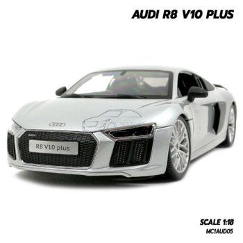 โมเดลรถ AUDI R8 V10 PLUS สีบรอนด์เงิน (Scale 1:18)