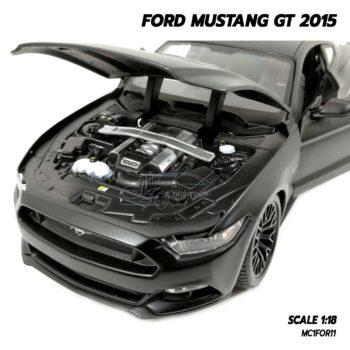 โมเดลฟอร์ดมัสแตง FORD MUSTANG GT 2015 สีดำด้าน (Scale 1:18) โมเดลรถสะสม เครื่องยนต์จำลองเหมือนจริง