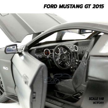 โมเดลฟอร์ดมัสแตง FORD MUSTANG GT 2015 สีดำด้าน (Scale 1:18) โมเดลรถสะสม ภายในรถจำลองเหมือนจริง