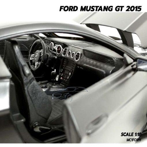 โมเดลฟอร์ดมัสแตง FORD MUSTANG GT 2015 สีดำด้าน (Scale 1:18) โมเดลรถสะสม สวยงามน่าสะสม