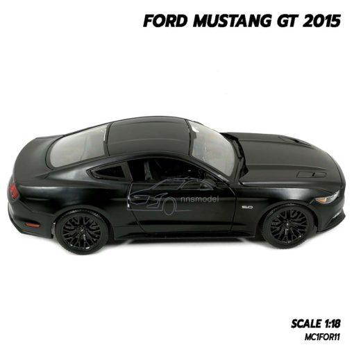 โมเดลฟอร์ดมัสแตง FORD MUSTANG GT 2015 สีดำด้าน (Scale 1:18) โมเดลรถสะสม พร้อมฐานตั้งโชว์