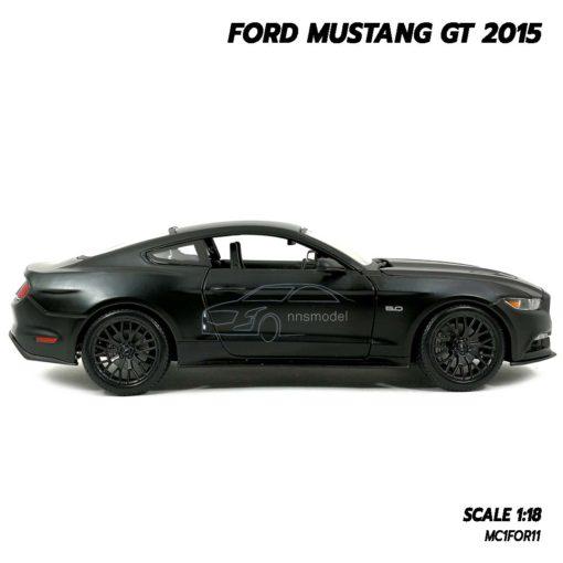 โมเดลฟอร์ดมัสแตง FORD MUSTANG GT 2015 สีดำด้าน (Scale 1:18) โมเดลรถสะสม ผลิตโดยแบรนด์ Maisto